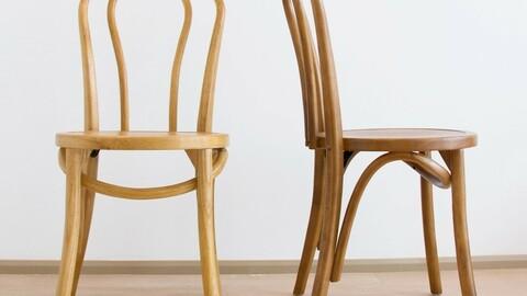Grain wood interior wood chair 2colors
