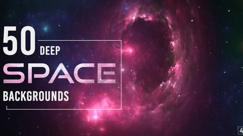 50 Deep Space Backgrounds - Vol. 1
