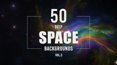 50 Deep Space Backgrounds - Vol. 3
