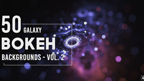 50 Galaxy Bokeh Backgrounds - Vol. 2