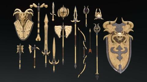 Fantasy Weapon Bone set