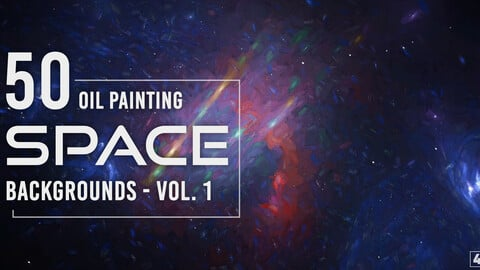 50 Oil Painting Space Backgrounds - Vol. 1