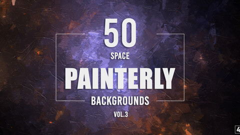 50 Painterly Space Backgrounds - Vol. 3