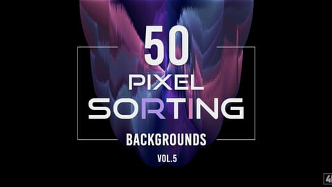 50 Pixel Sorting Backgrounds - Vol. 5