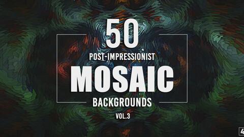 50 Post-Impressionist Mosaic Backgrounds - Vol. 3