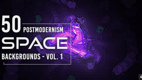 50 Postmodernism Space Backgrounds - Vol. 1