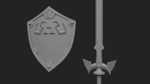 The legend of Zelda - Master Sword & Hylian Shield