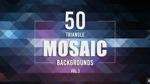 50 Triangle Mosaic Backgrounds - Vol. 3