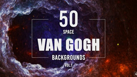 50 Van Gogh Space Backgrounds - Vol. 1