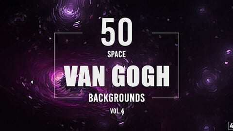 50 Van Gogh Space Backgrounds - Vol. 4