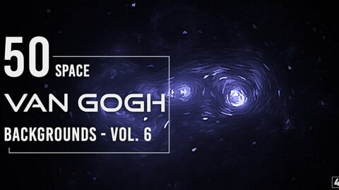 50 Van Gogh Space Backgrounds - Vol. 6