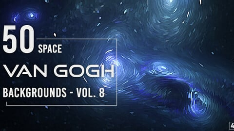 50 Van Gogh Space Backgrounds - Vol. 8