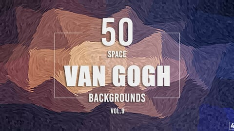 50 Van Gogh Space Backgrounds - Vol. 9