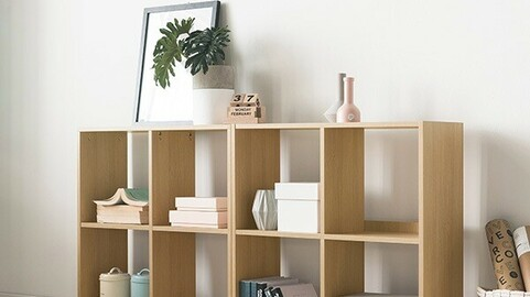 Ray 2-tier bookshelf