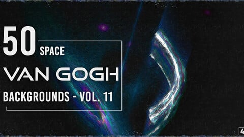 50 Van Gogh Space Backgrounds - Vol. 11