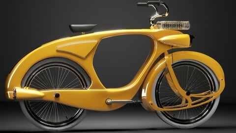 hard surface cllasic bike warm yellow color