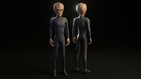 Humanoid Alien (4K Animated)
