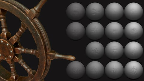 ZBrush - Wood Surface Vol. 1