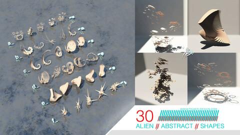 Abstract Organic Alien 3D Shapes Vol. 1