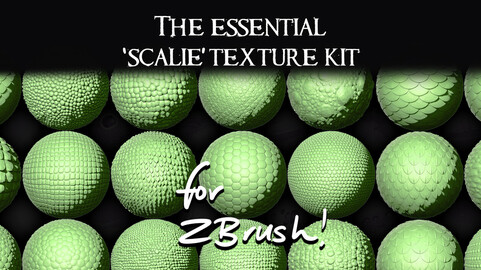 The Essential Scalie Texture Kit for ZBrush