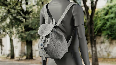 Realistic 3D model of Womens Backpack 2