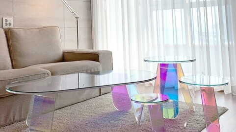 Hologram Rainbow Table 1200 2colors