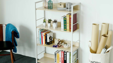 Cookie & Cream Bookshelf 4-tier 2colors