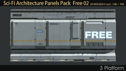 Sci-Fi Architecture Panels Pack 02 Free