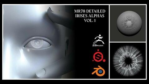 MR78 Detailed Irises Alphas Vol. 1