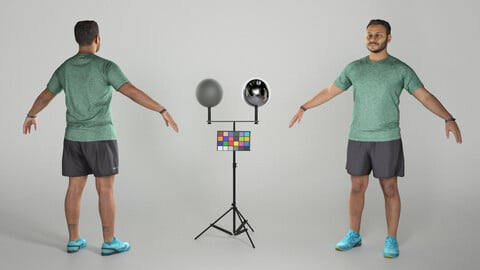 Handsome man in sportswear ready for animation 294