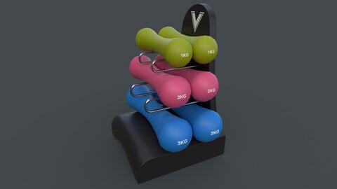 PBR 1-3KG Women Dumbbell V3 - Neoprene Coated