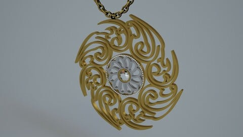 Jewelry Necklace 3D Model