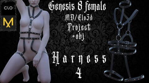 Clo3d/Marvelous designer Harness №4 Zprj/Obj