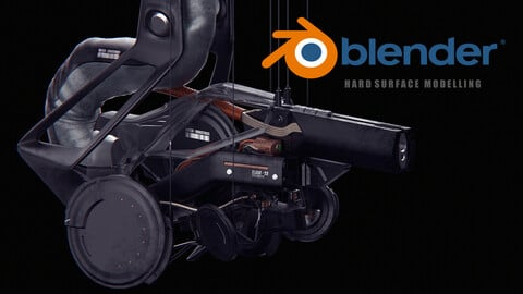 Cyberpunk Zlade Weapon - Concept Design Workflow [Blender Hard-Surface Modelling]