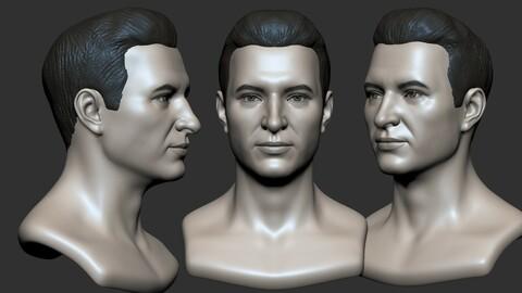 Man Head Base mesh 3D model 3D model
