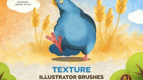 31 Texture Brushes for Adobe Illustrator + 10 Grunge Textures