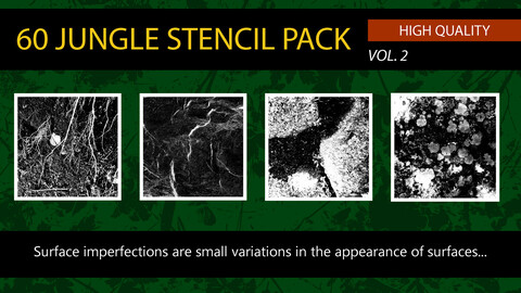 """ 60 Jungle Stencil Pack"" vol. 2"