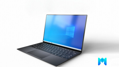 modern laptop  pbr game asset