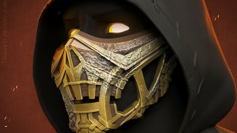 Scorpion mask from Mortal Kombat 2021 3D print model