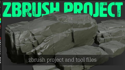 Rock Sculpt Zbrush Project