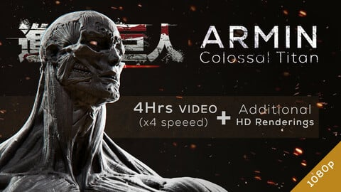 Armin Colossal Titan - Redesign Speedsculpt in ZBrush
