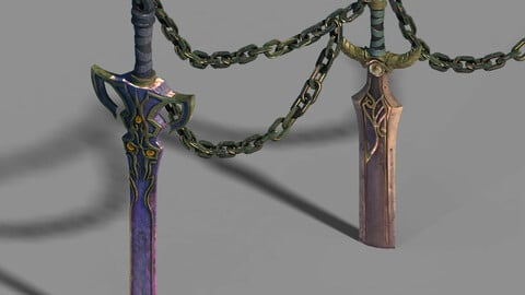 Town Magic Cave - Sword - Iron Chain 01