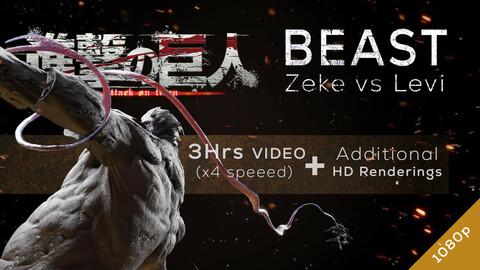 Beast Titan vs Levi - Redesign Speedsculpt in ZBrush