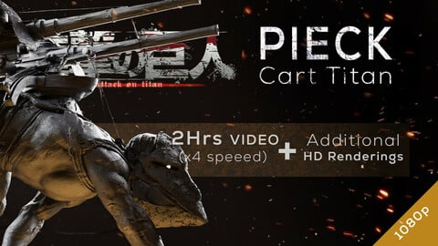 Pieck Cart Titan - Redesign Speedsculpt in ZBrush