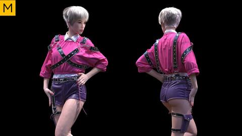 Womens clothing. Avatar genesis 8 Female. Marvelous Designer, Clo3d project + OBJ/FBX files (25)