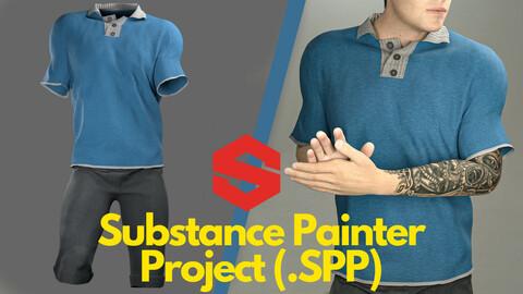 Substance Painter ( .SPP ) : Men's polo shirt & shorts