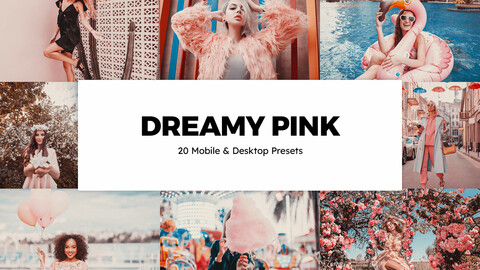 20 Dreamy Pink LUTs and Lightroom Presets