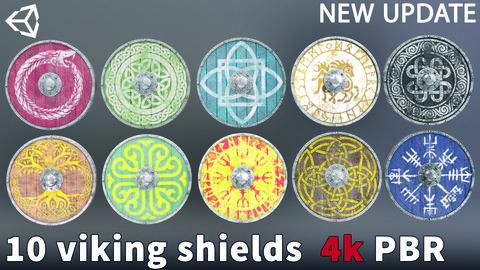 10 Viking Shields 4k PBR