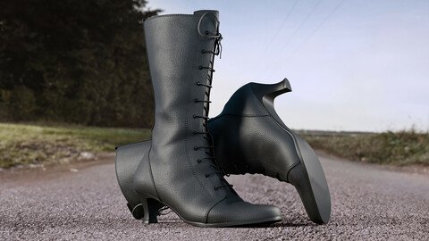 Realistic 3D model of Womens High Heel Shoes 2