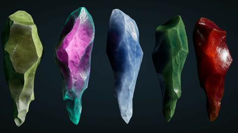 Artstation Learning - Crystal Shader - Unreal Scene